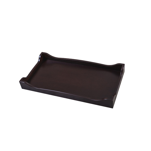 Silva Scalloped Changing Tray in Cherry