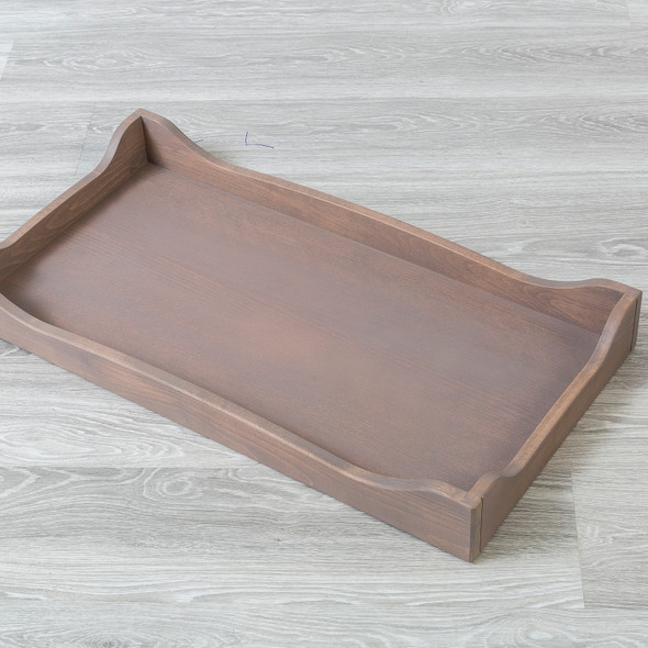 Silva Scalloped Changing Tray in Cappuccino