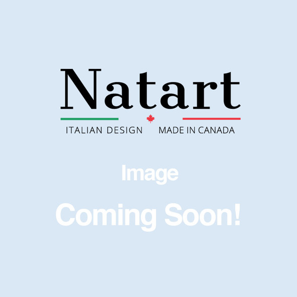 """Natart Classic Twin Bed 39"""" in Elephant Grey"""