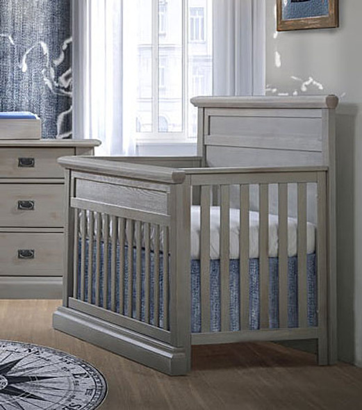 Natart Cortina Convertible Crib in Grey Chalet