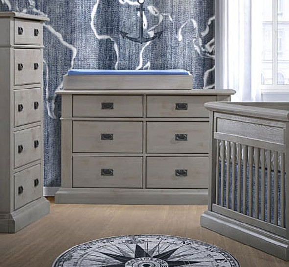 Natart Cortina Double Dresser in Grey Chalet