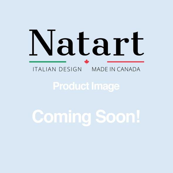 Natart Cortina Double Bed in Grey Chalet/Cognac