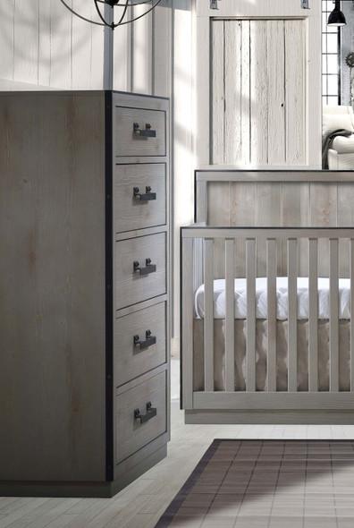 Natart Sevilla 5 Drawer Dresser in Grey Chalet