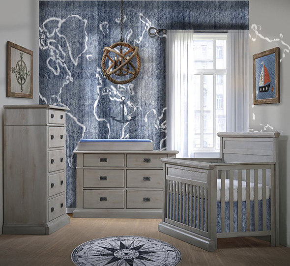 Natart Cortina 3 Piece Nursery Set in Grey Chalet