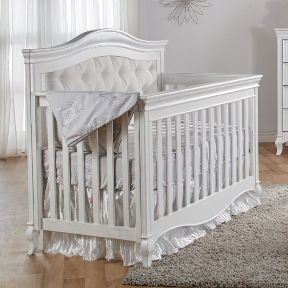 Pali Diamante Collection 2 Piece Nursery Set-Convertible Crib and 4 Drawer Dresser