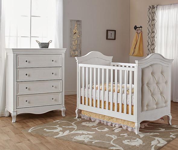 Pali Diamante Collection 2 Piece Nursery Set-Classic Crib and 4 Drawer Dresser