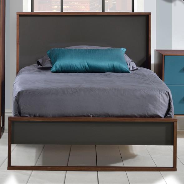 Tulip Rio Twin Bed in Walnut/Glossy Granite