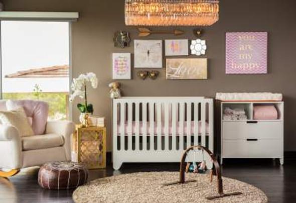 Nook Pebble Air Crib Mattress in Blush
