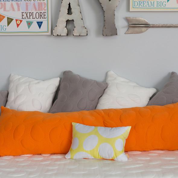Nook Pebble Body Pillow-Poppy
