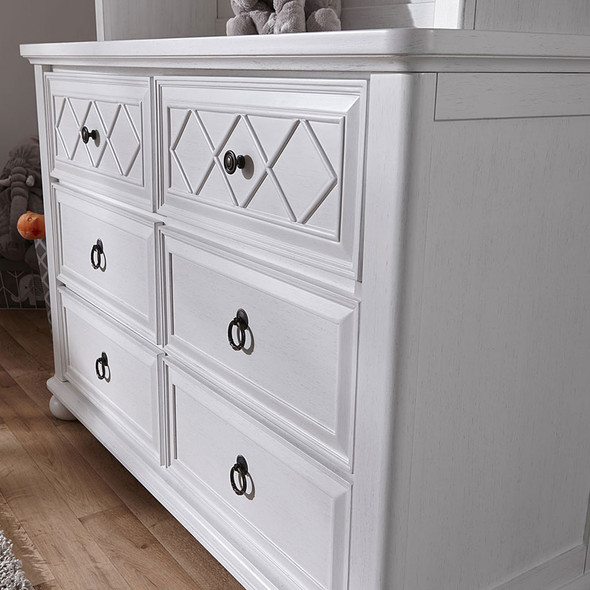 Pali Siracusa Double Dresser in Vintage White