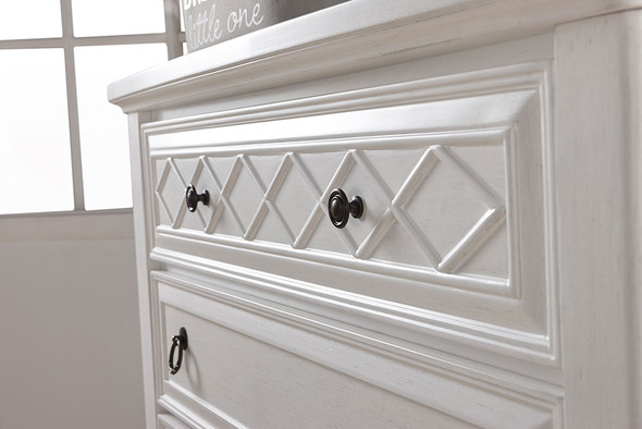 Pali Siracusa Five Drawer Dresser in Vintage White
