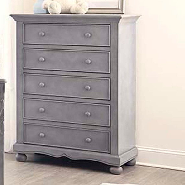 Westwood Meadowdale Collection 5 Drawer Chest in Cloud