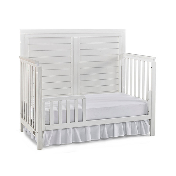 Ti Amo Castello Full Panel Crib in Wire Brush Seashell