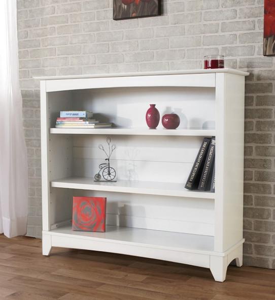 Pali Diamante Bookcase Hutch in Vintage White
