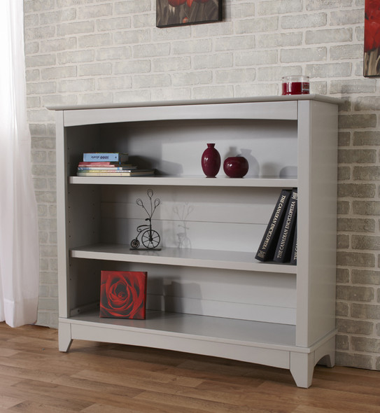 Pali Lucca Collection Bookcase Hutch in Stone