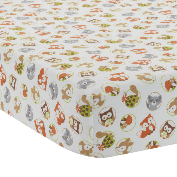 Bedtime Originals Friendly Forest Collection Crib Sheet