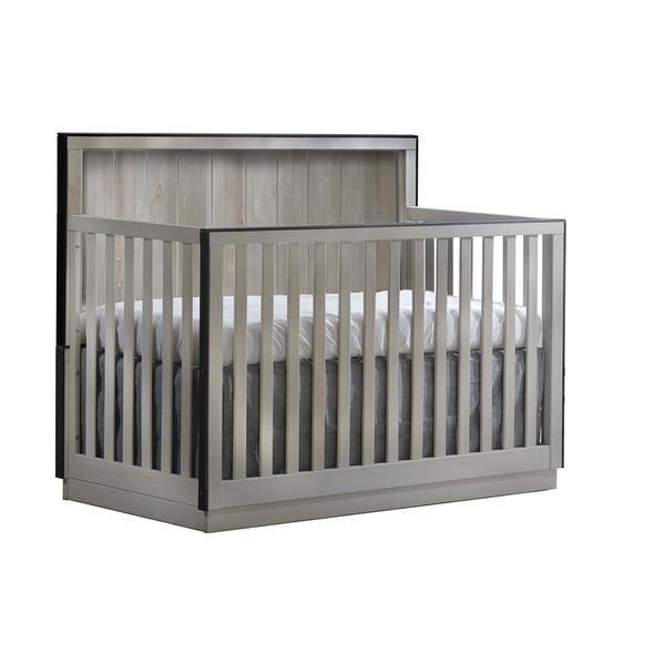 Natart Valencia Convertible Crib in Grey Chalet