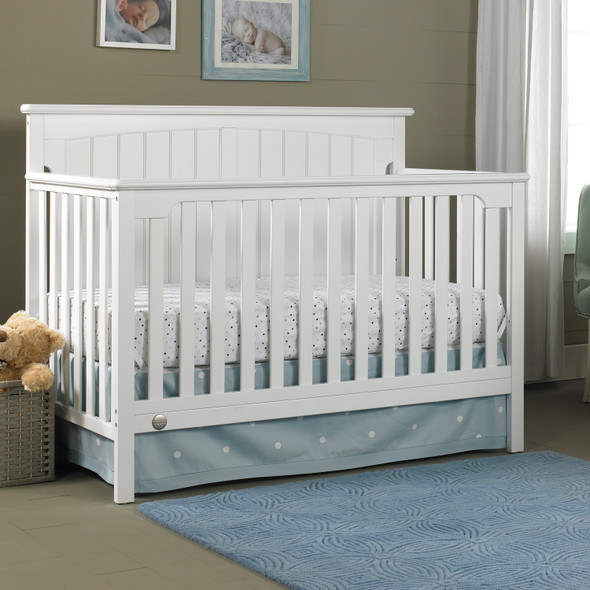 Fisher Price Colton Convertible Crib in Snow White