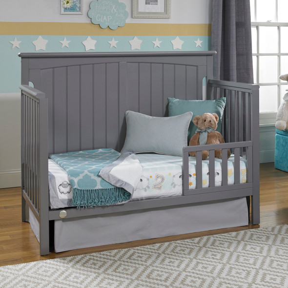 Fisher Price Colton Convertible Crib in Stormy Grey