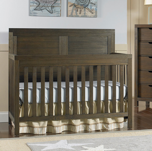 Ti Amo Castello Full Panel Crib in Wire Brush Brown