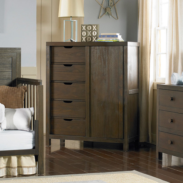 Ti Amo Castello RTA Chifforobe in Wire Brush Brown