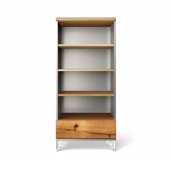 Romina Pandora Collection Bookcase in Argento