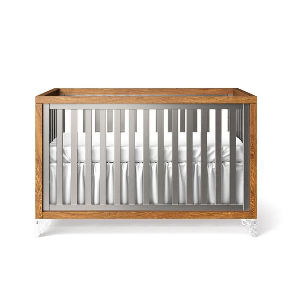 Romina Pandora Collection Classic Crib/Convertible Crib in Argento