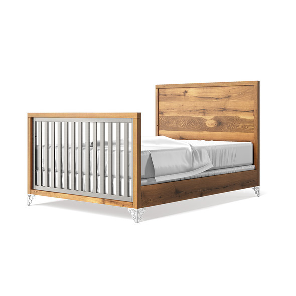 Romina Pandora Collection Full Bed with Oak Headboard in Argento