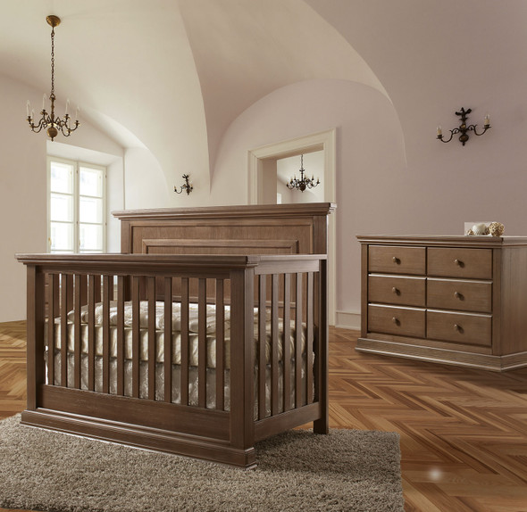 Pali Modena Collection 2 Piece Nursery Set in Distressed Desert - Crib and Double Dresser