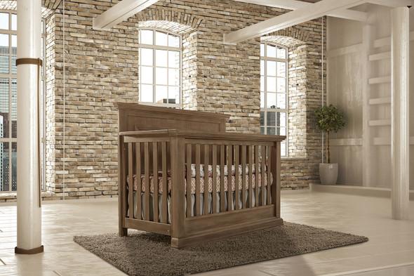 Pali Modena Collection 3 Piece Nursery Set in Distressed Desert- Crib, Double Dresser, 5 Drawer Dresser