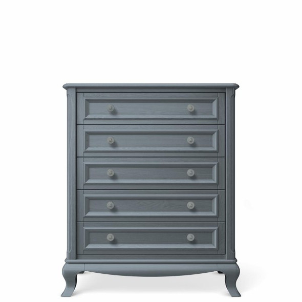 Romina Antonio Collection 5 Drawer Chest in Washed Grey