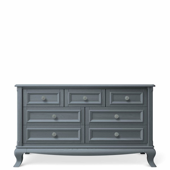 Romina Antonio Collection 7 Drawer Dresser in Washed Grey
