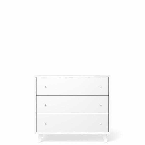 Romina New York 3 Drawers Dresser in Solid White