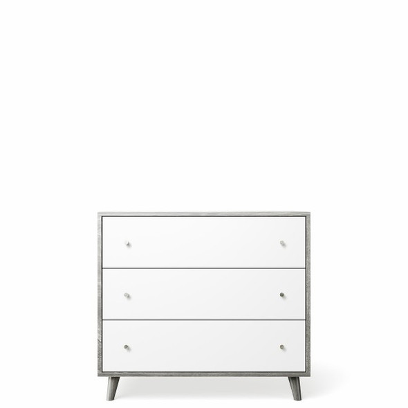 Romina New York 3 Drawers Dresser in Washed White