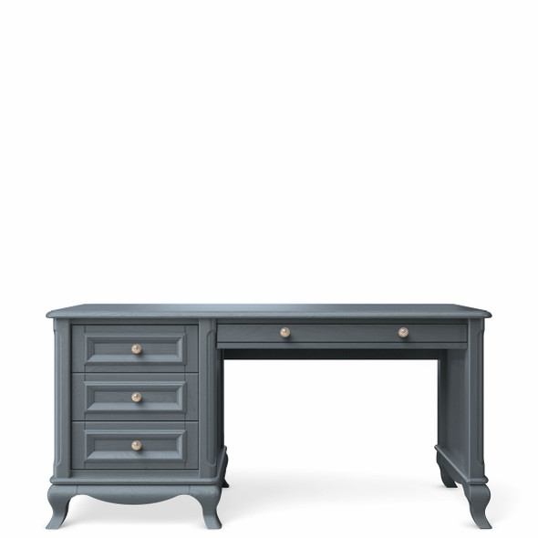 Romina Antonio Collection 4 Drawer Desk in Washed Grey