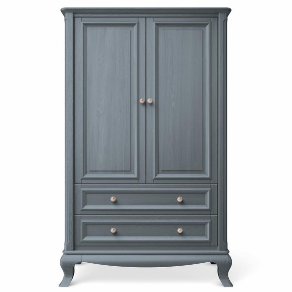 Romina Antonio Collection 2 Drawer Grand Armoire in Washed Grey