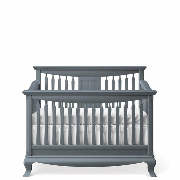 Romina Antonio Collection Convertible Crib with Slatted Headboard in Washed Grey