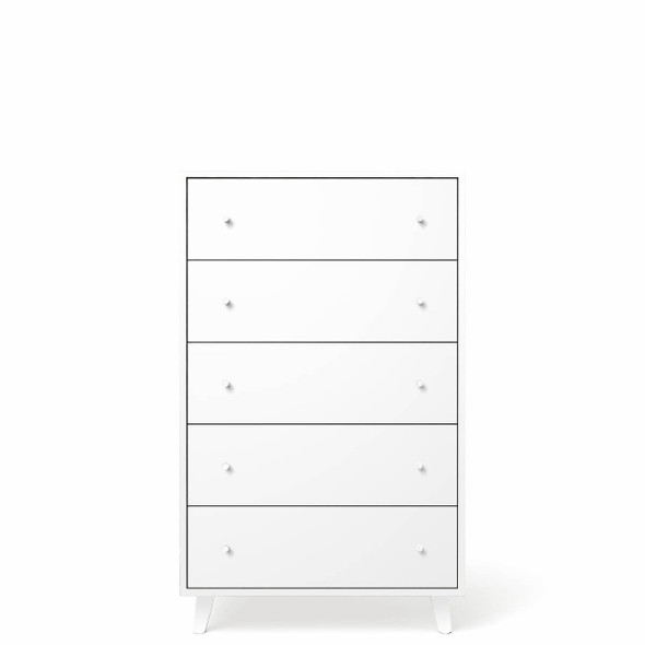 Romina New York 5 Drawers Chest in Solid White