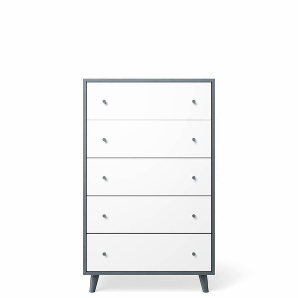 Romina New York 5 Drawers Chest in Washed Grey