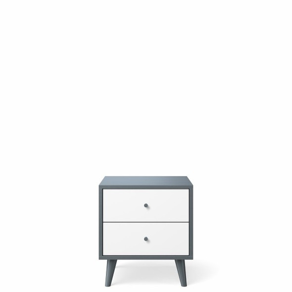 Romina New York Nightstand in Washed Grey