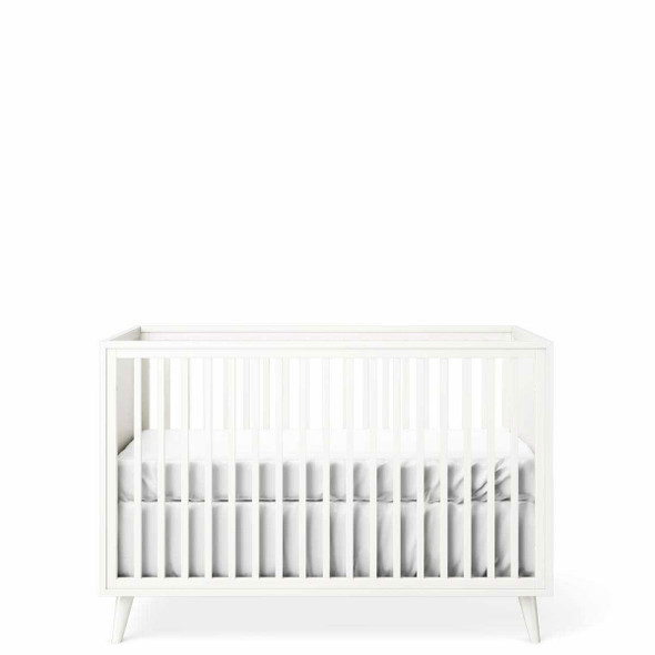 Romina New York Stationary Crib in Solid White