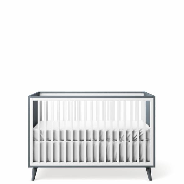 Romina New York Stationary Crib in Washed Grey