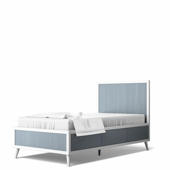 Romina New York Twin Bed in Solid White