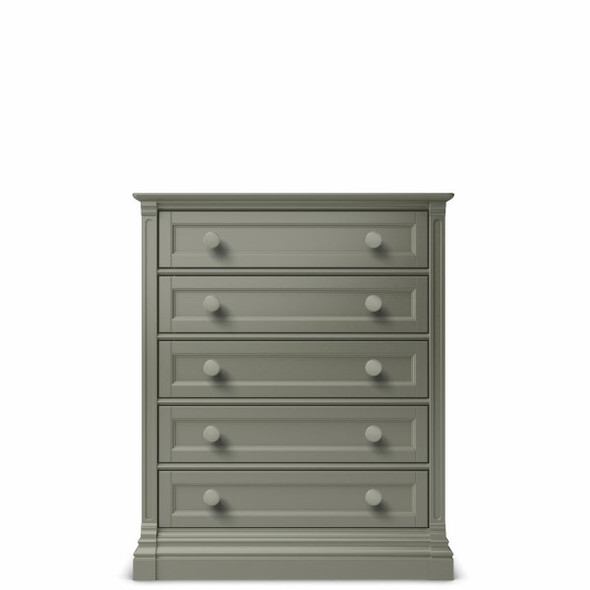 Romina Imperio Collection 5 Drawer Chest in Vintage Grey