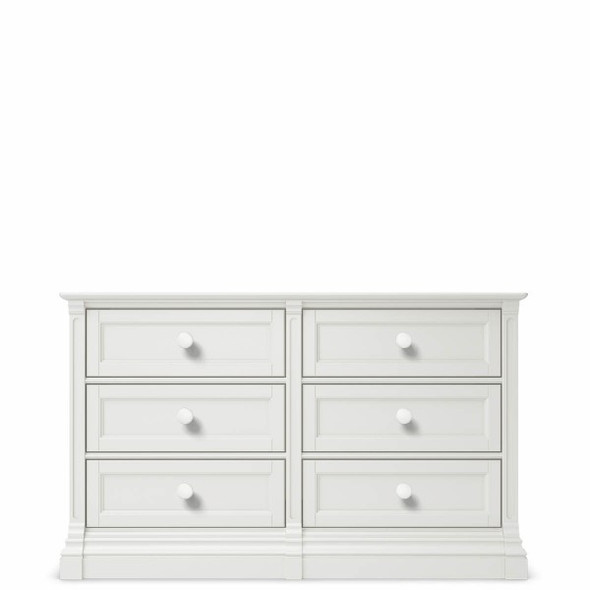 Romina Imperio Collection 6 Drawer Dresser in Solid White
