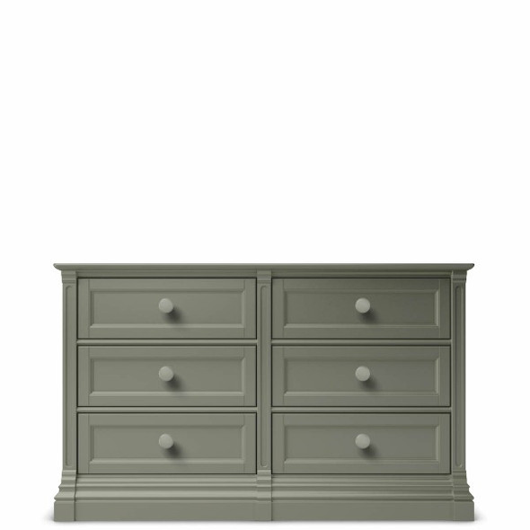 Romina Imperio Collection 6 Drawer Dresser in Vintage Grey