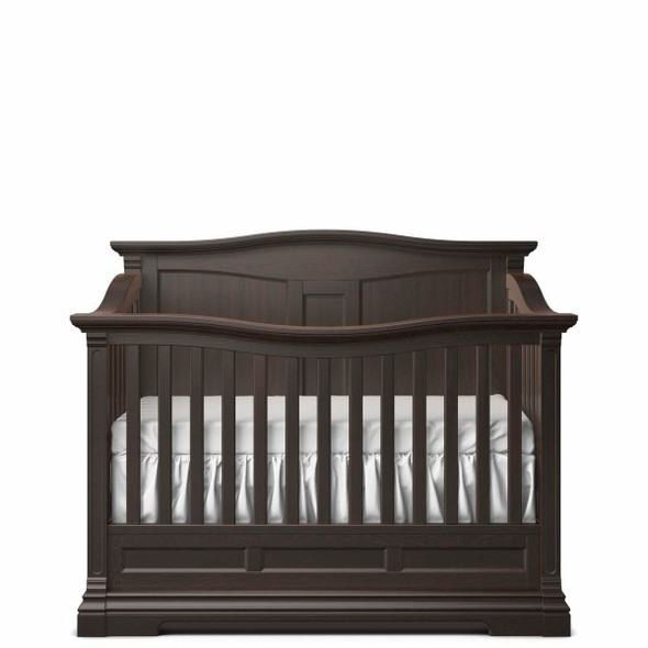 Romina Imperio Collection Solid Panel Convertible Crib in Bruno Rosso