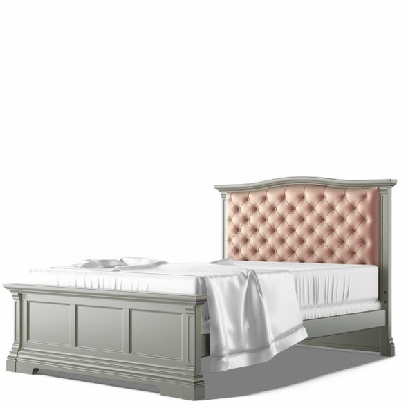 Romina Imperio Collection Full Bed with Tufted Headboard in Vintage Grey