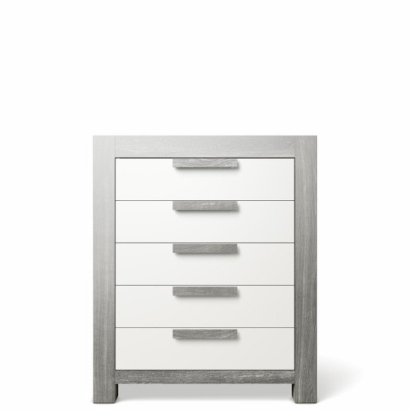 Romina Ventianni Collection Five Drawer Chest in Silver Frost