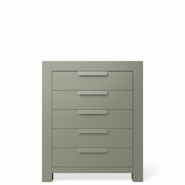 Romina Ventianni Collection Five Drawer Chest in Vintage Grey